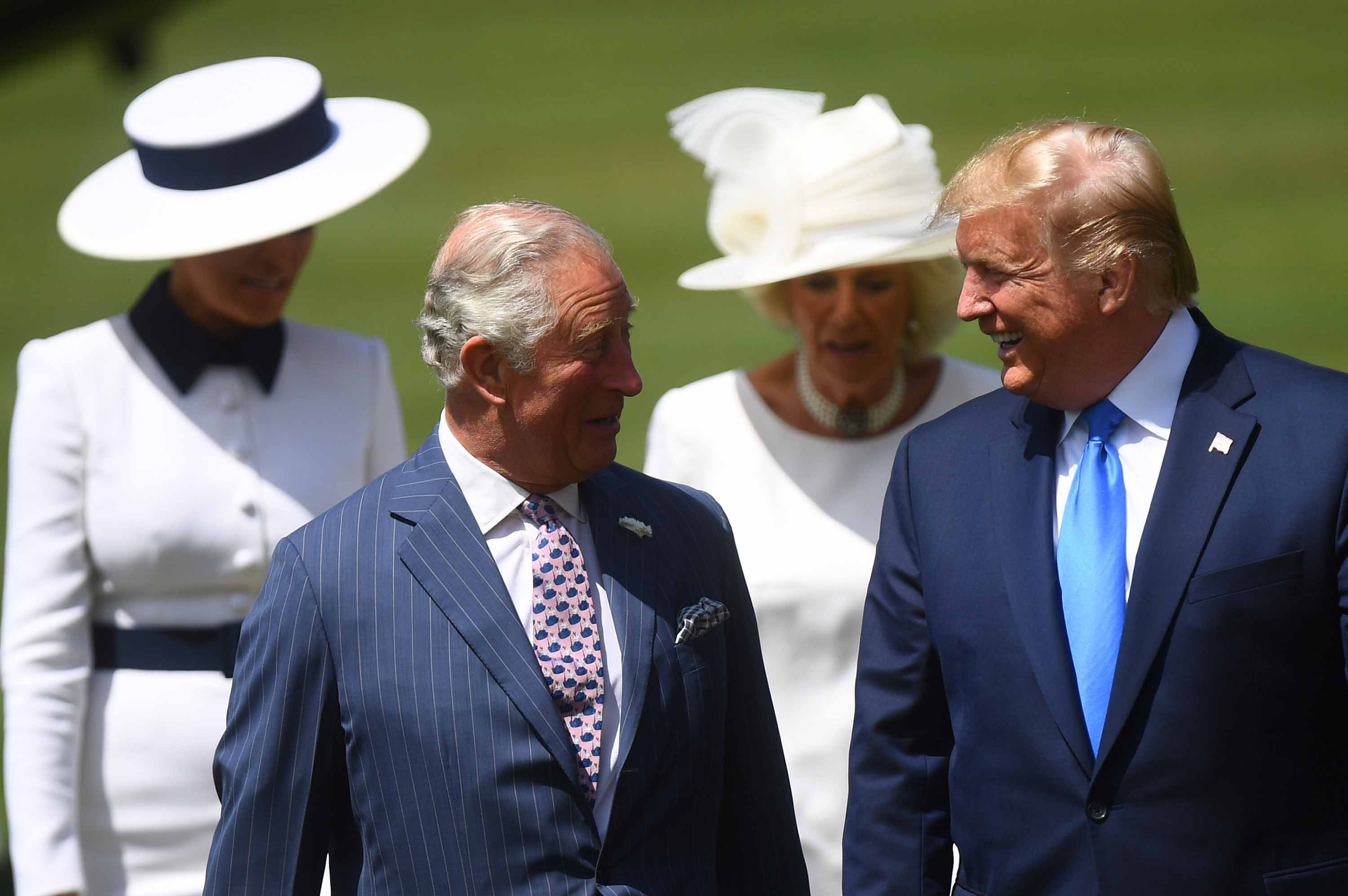 President Trump and Prince Charles speak during Trump's arrival at Buckingham Palace for a State visit in June. Photo: Victoria Jones/WPA Pool/Getty Images