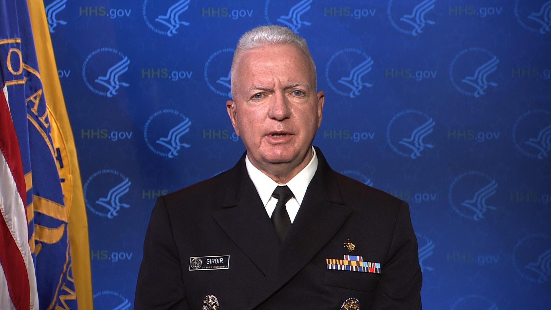 """Admiral Brett Giroir on CNN's """"New Day"""" on July 20."""