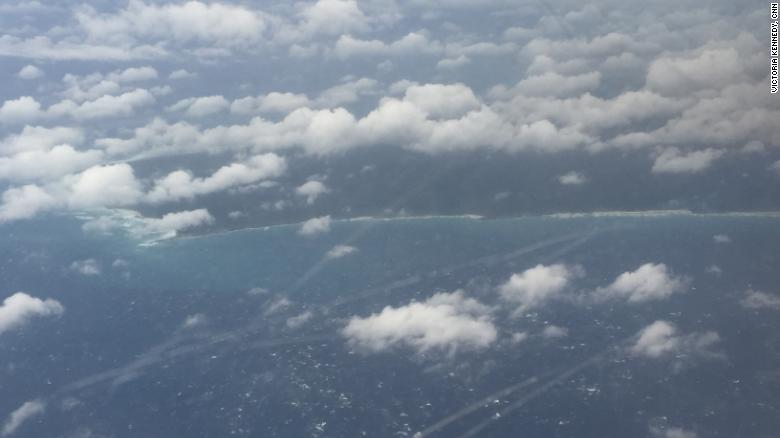 Hurricane Hunters fly above the Bahamas after being inundated by Dorian