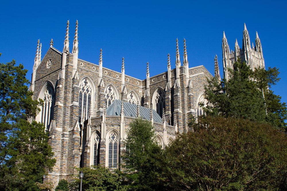 Duke University Chapel in Durham, North Carolina.