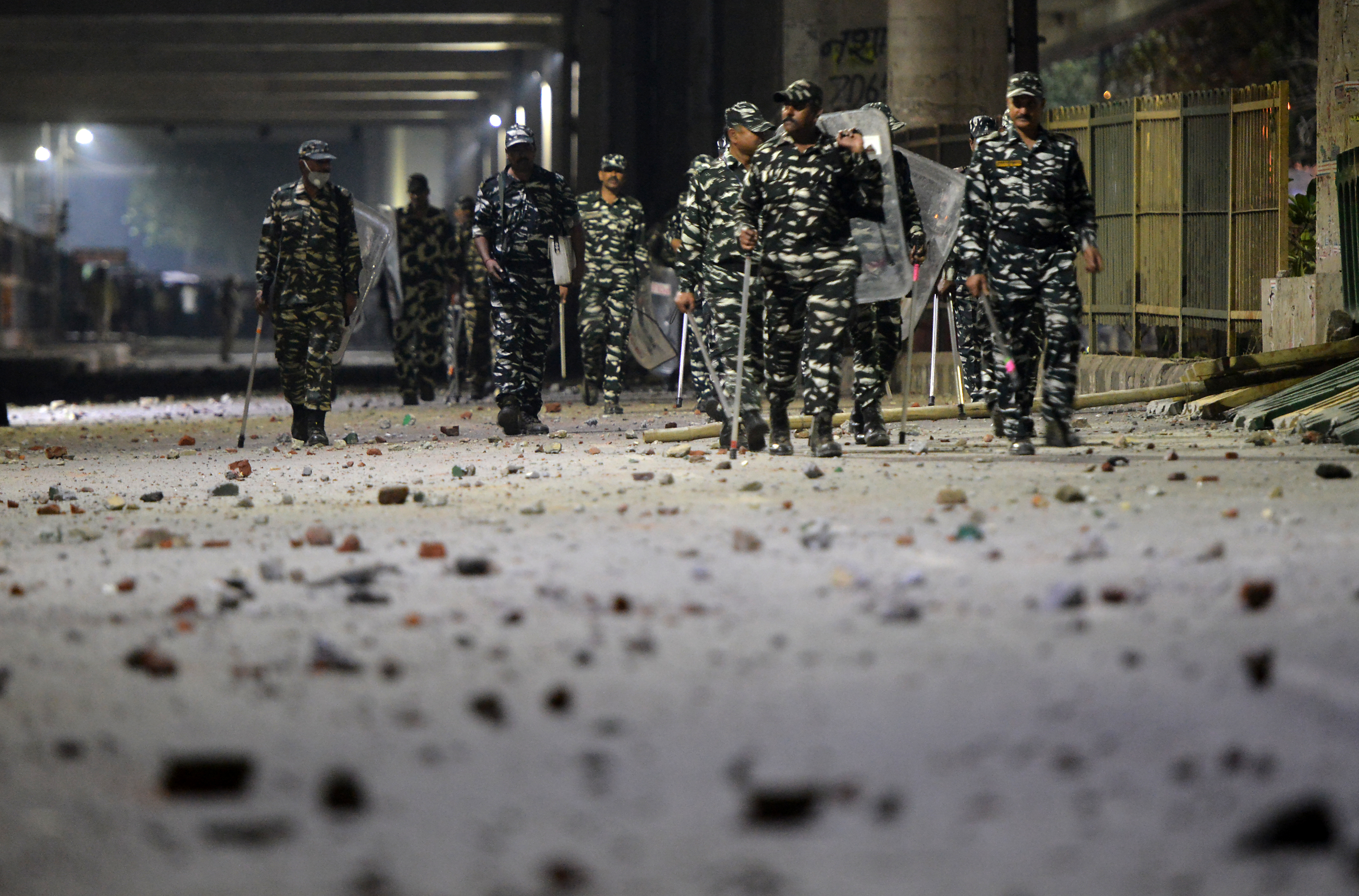 Clashes broke out between anti CAA and pro CAA in Maujpur, New Delhi, on Monday.
