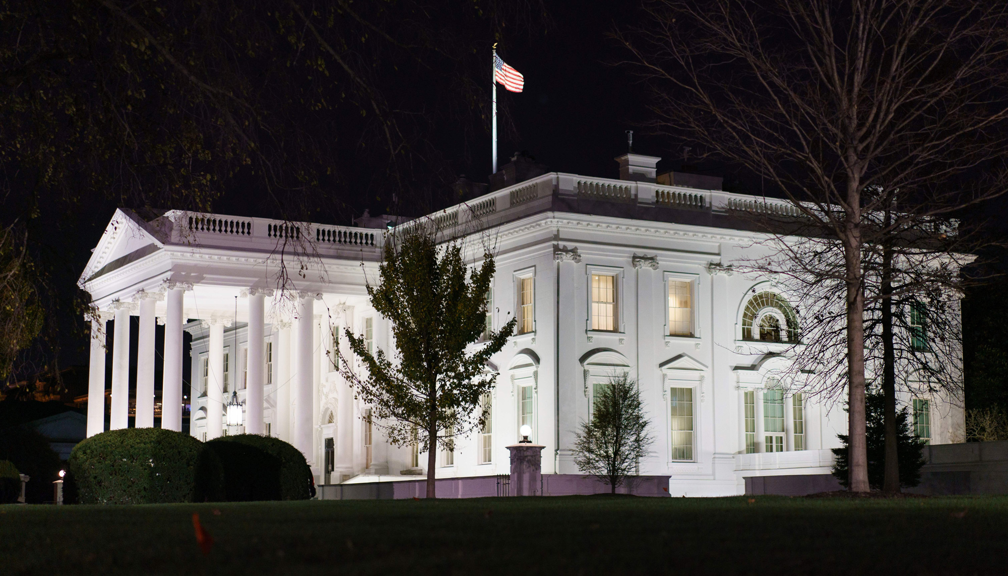 The White House is seen on November 23 in Washington, DC.
