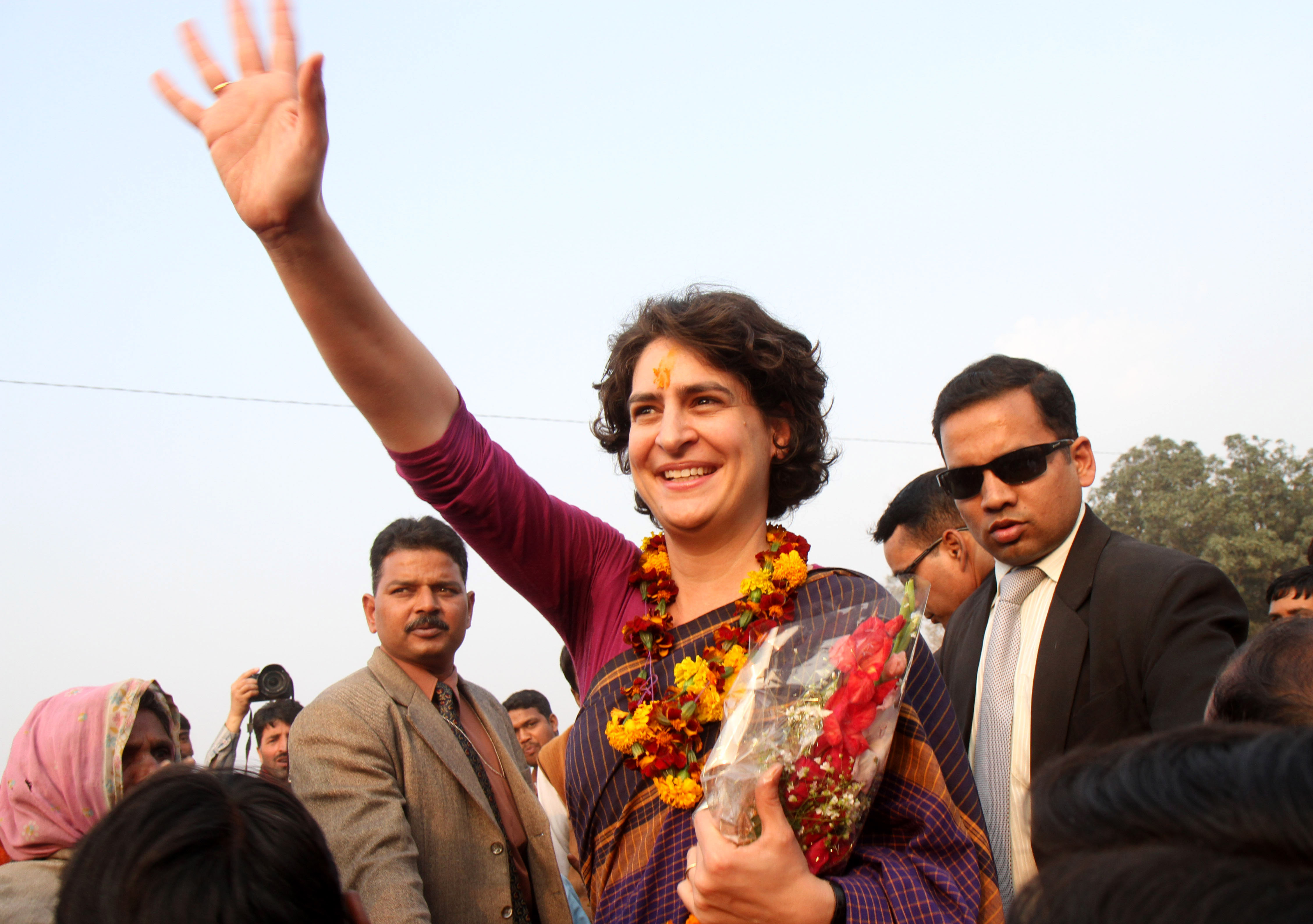 Many hope Priyanka Gandhi's decision to enter into frontline politics will provide a boost to the Congress party ahead of the polls, on April 11.