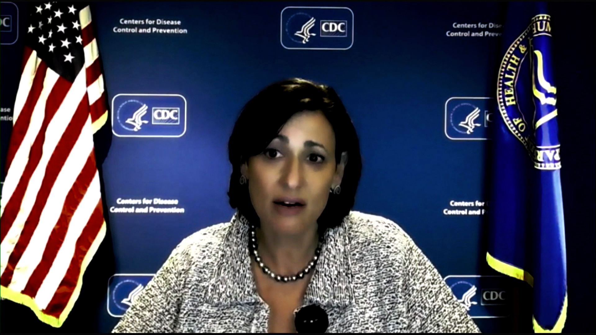 CDC Director Dr. Rochelle Walensky speaks during a virtual White House briefing on May 5.