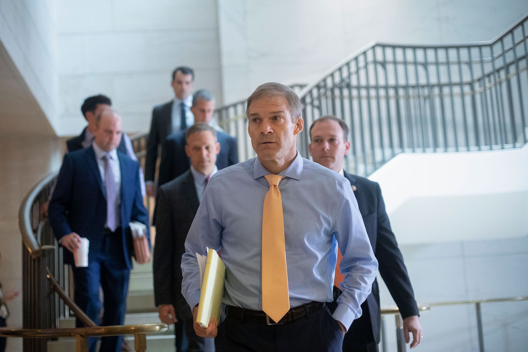 Rep. Jim Jordan, R-Ohio, arrives at the Capitol in Washington, on Thursday, October 3.