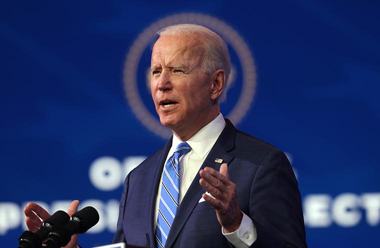 US President-elect Joe Biden announcesa $1.9 trillion Covid-19 relief package in Wilmington, Delawareon Thursday.