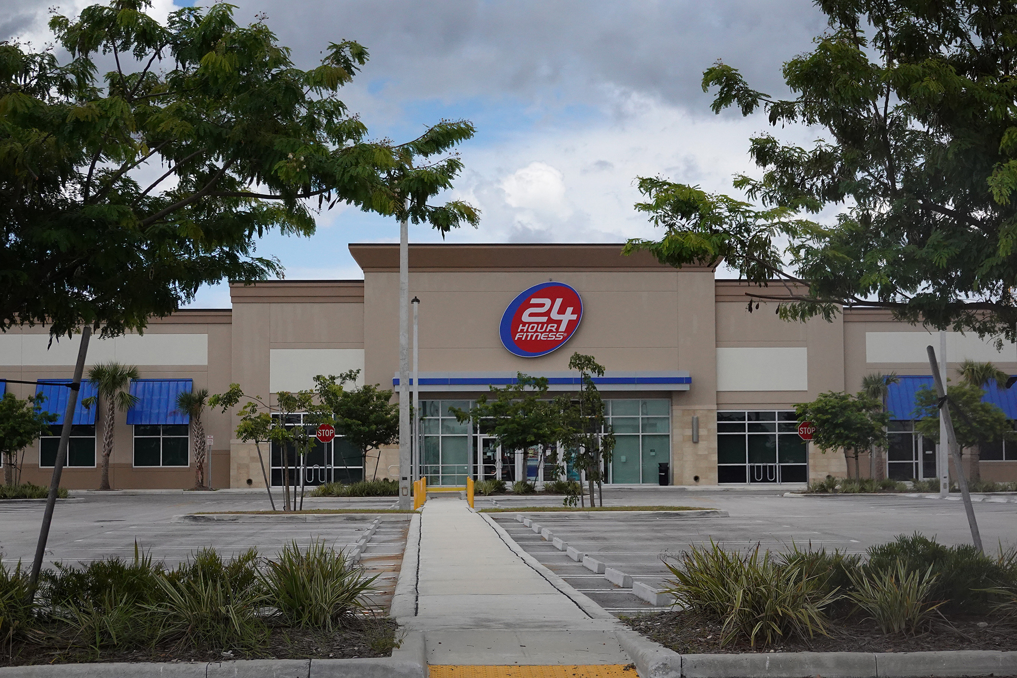A 24 Hour Fitness gym is seen on June 15, 2020 in Miami, Florida.