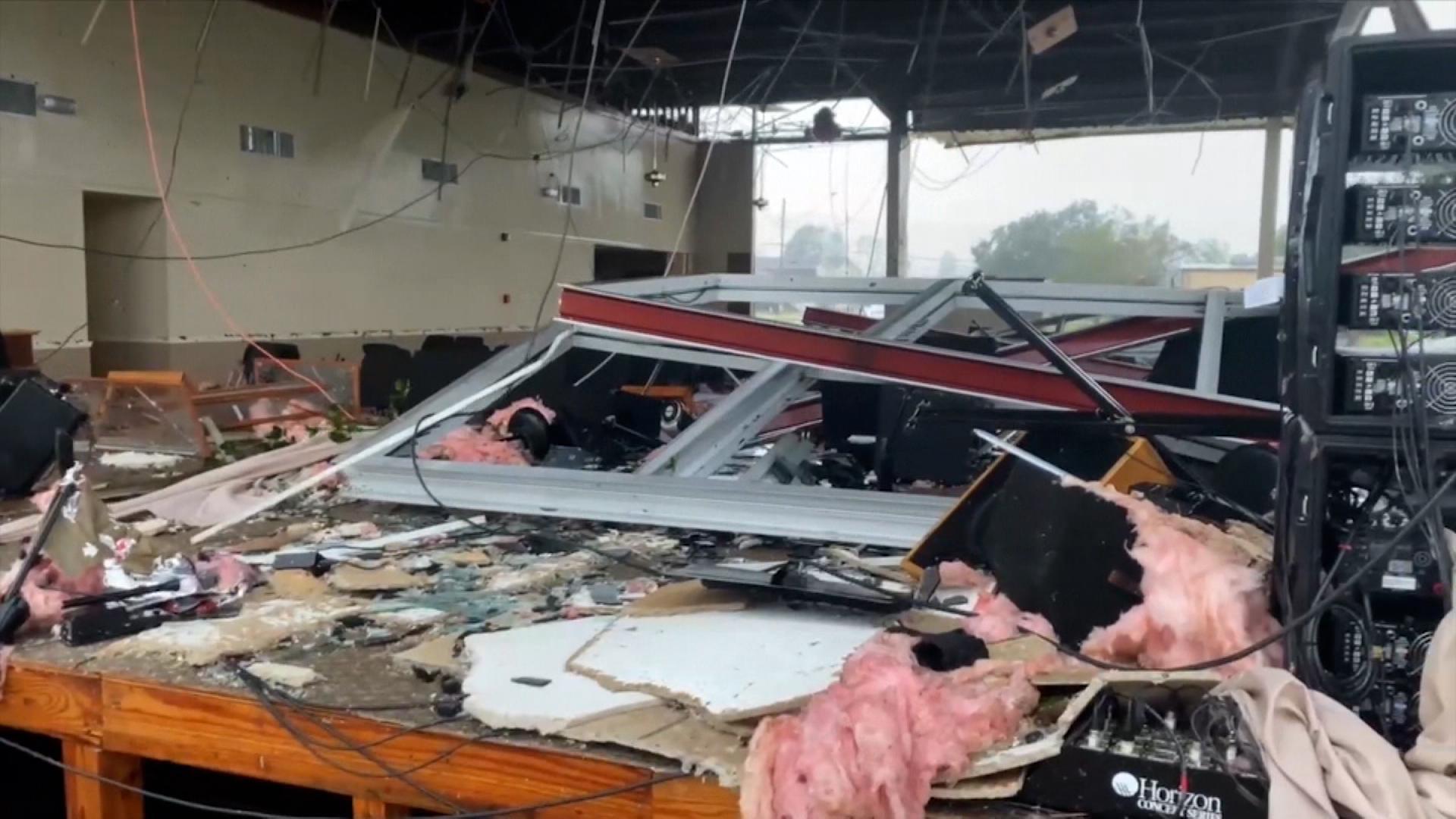 Damage in Lafourche Parish on Aug. 29, 2021.