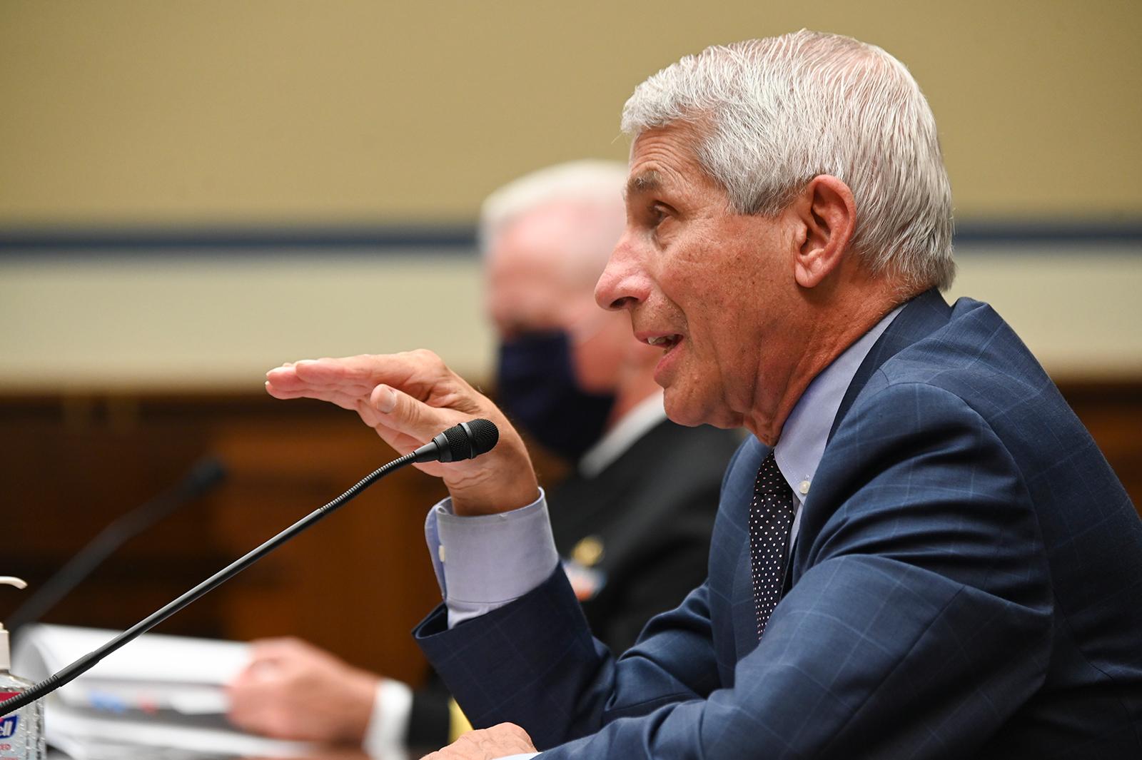 Anthony Fauci, during the Coronavirus Crisis hearing on July 31, in Washington, DC.
