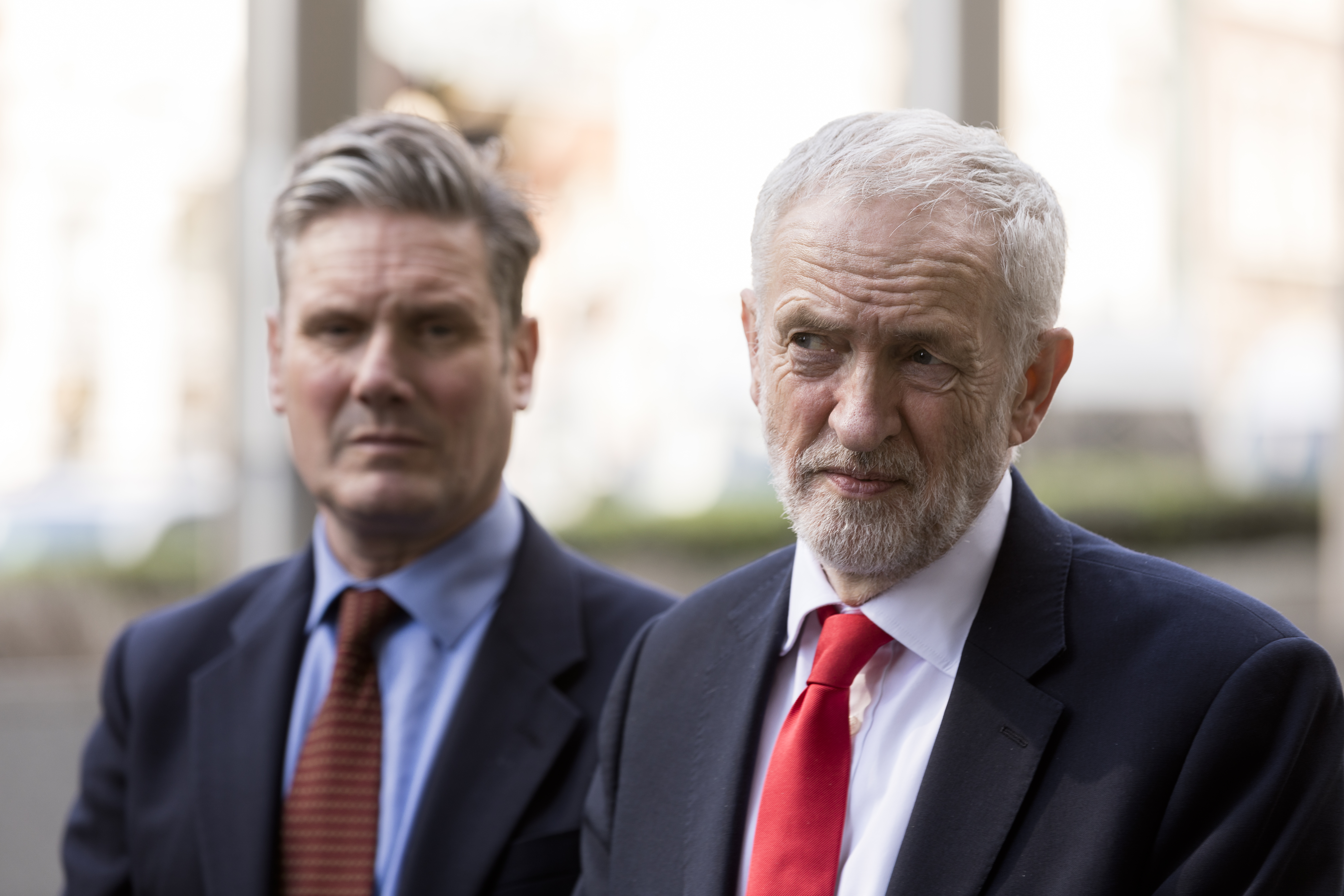 Labour's shadow Brexit secretary, Keir Starmer, and leader Jeremy Corbyn.