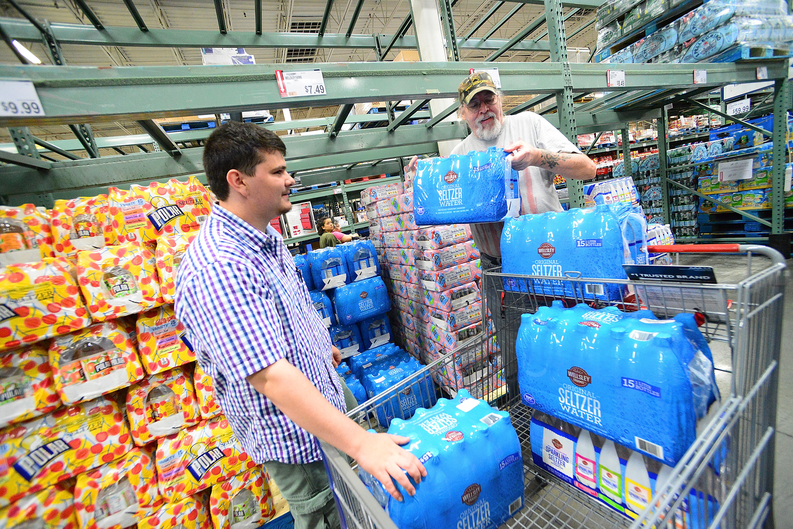 Florida residents buy supplies in preparation for Hurricane Dorian on August 29, 2019 in Orlando, Florida.