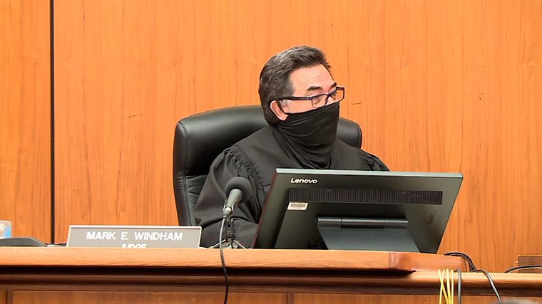 The judge addresses the jury after the verdict was read.