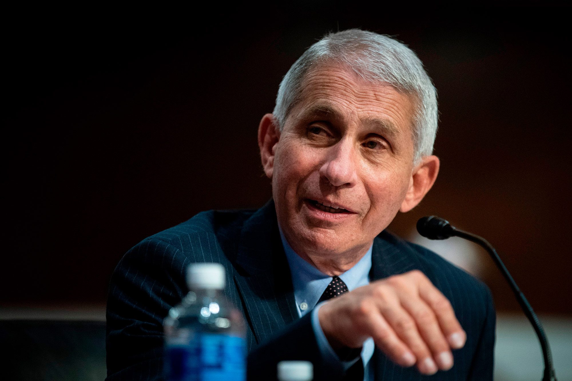 Anthony Fauci, director of the National Institute of Allergy and Infectious Diseases, speaks during a Senate Health, Education, Labor and Pensions Committee hearing in Washington, DC, on June 30.