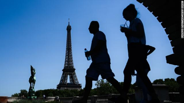 People in Paris are bracing for yet another record-breaking day of heat.