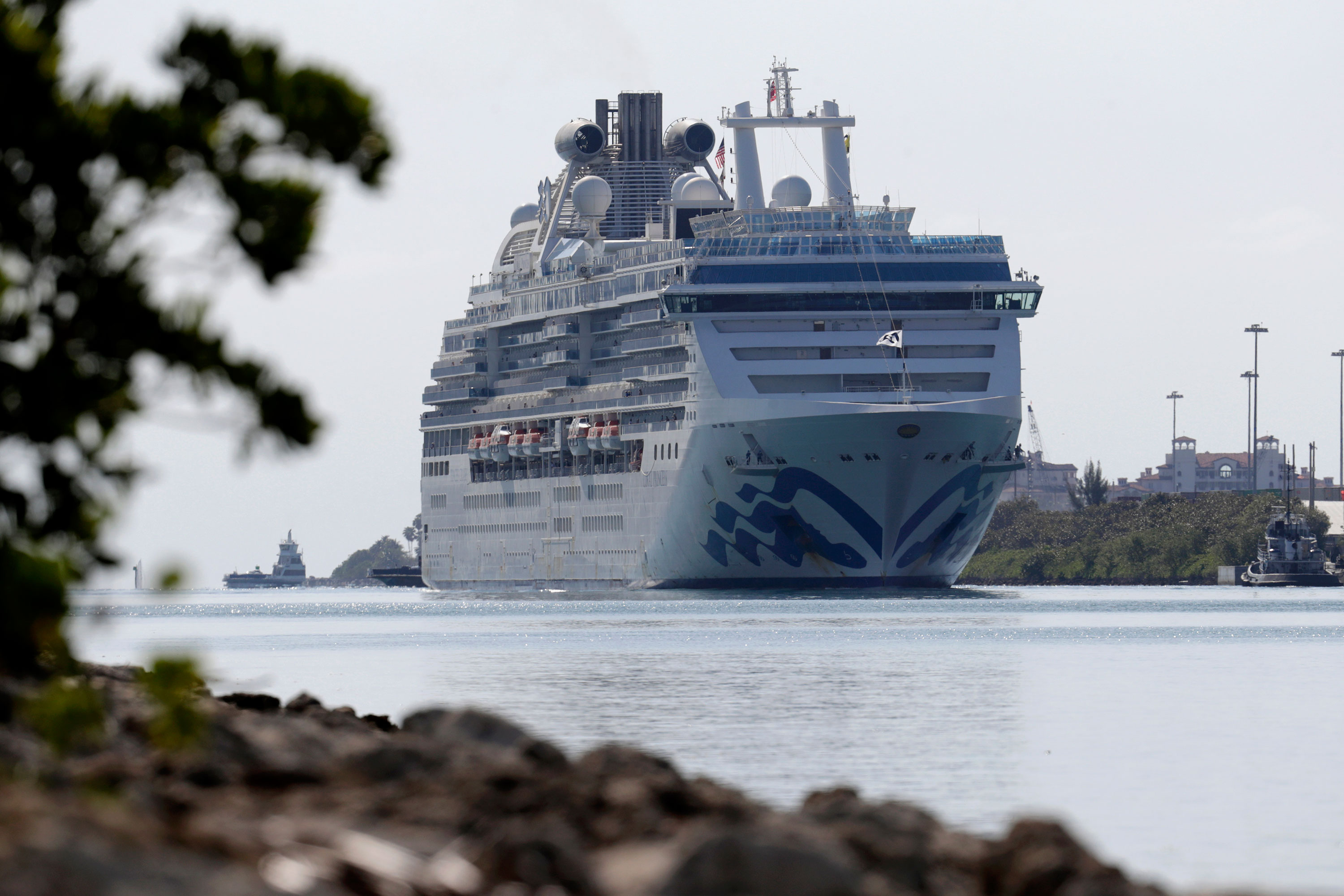 The Coral Princess cruise ship arrives in Miami on April 4.