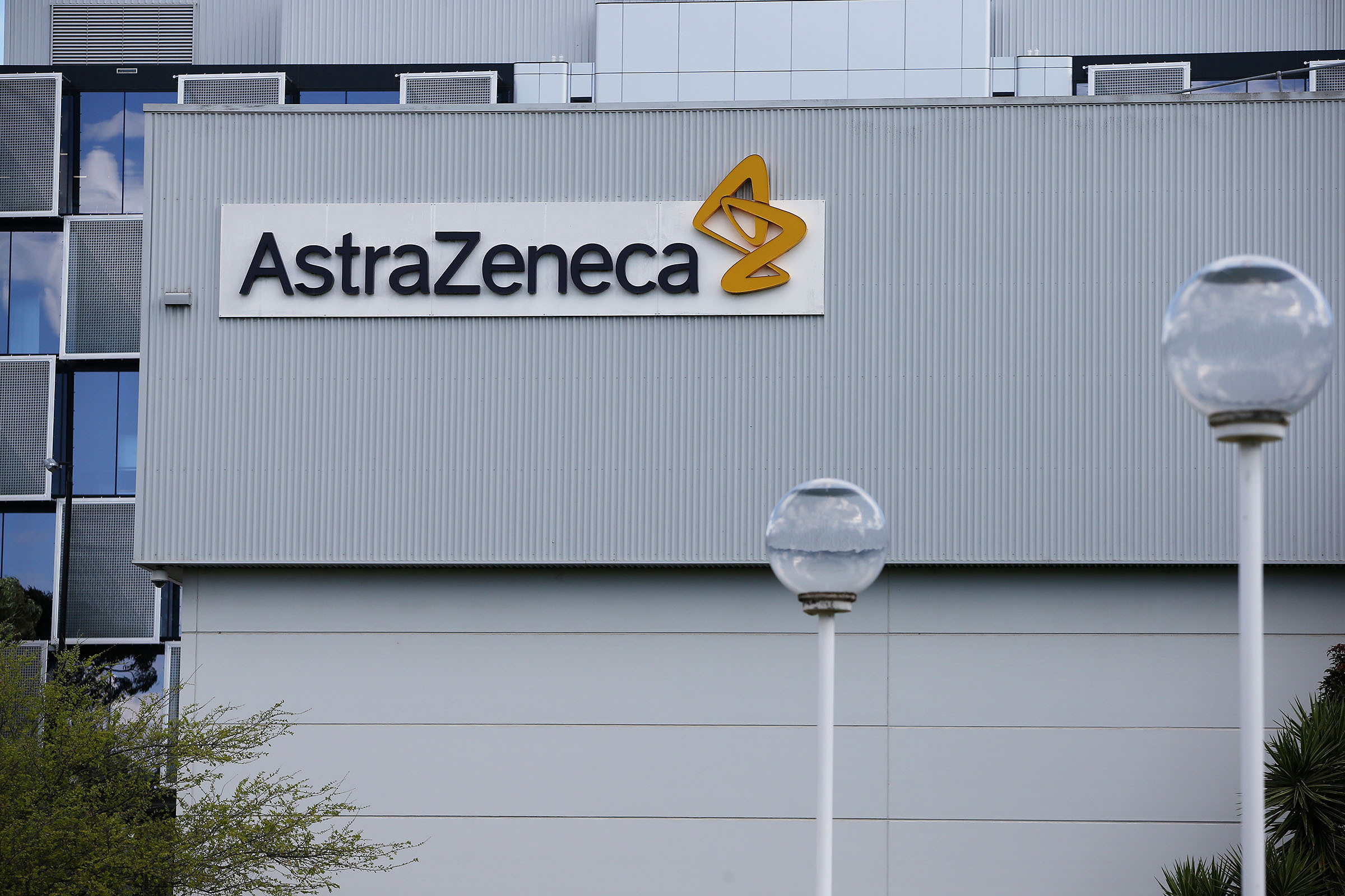 A general view of AstraZeneca is seen during Prime Minister Scott Morrison's visit on August 19 in Sydney, Australia.
