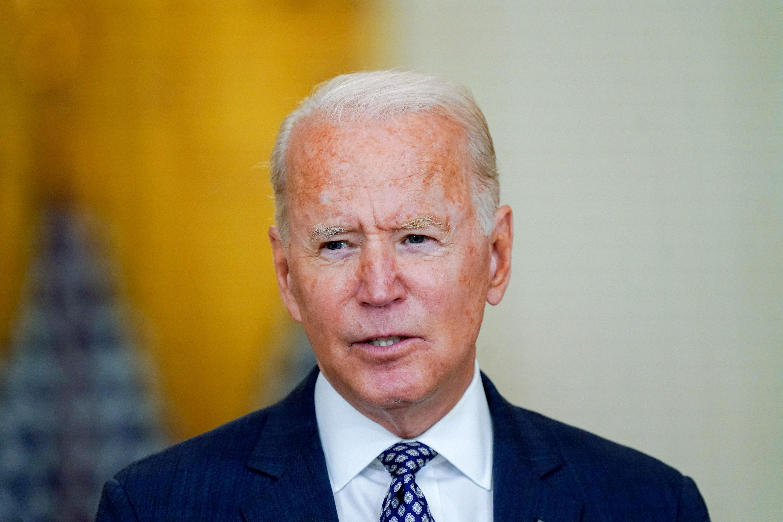 US President Joe Biden speaks at the White House on August 20, 2021.