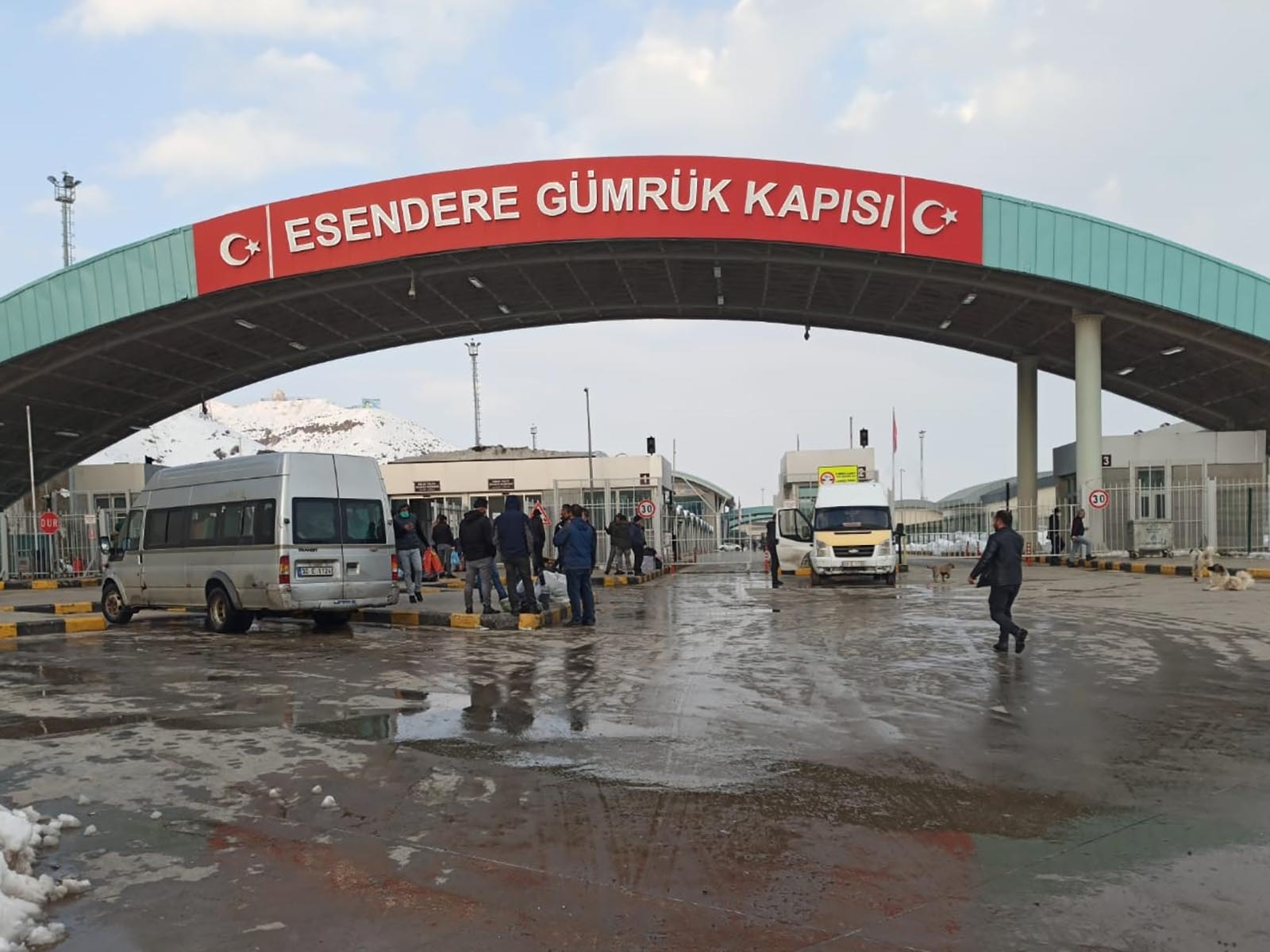 A border crossing between Turkey and Iran in Turkey's Yuksekova district. Turkey has temporarily closed its border over the coronavirus outbreak.