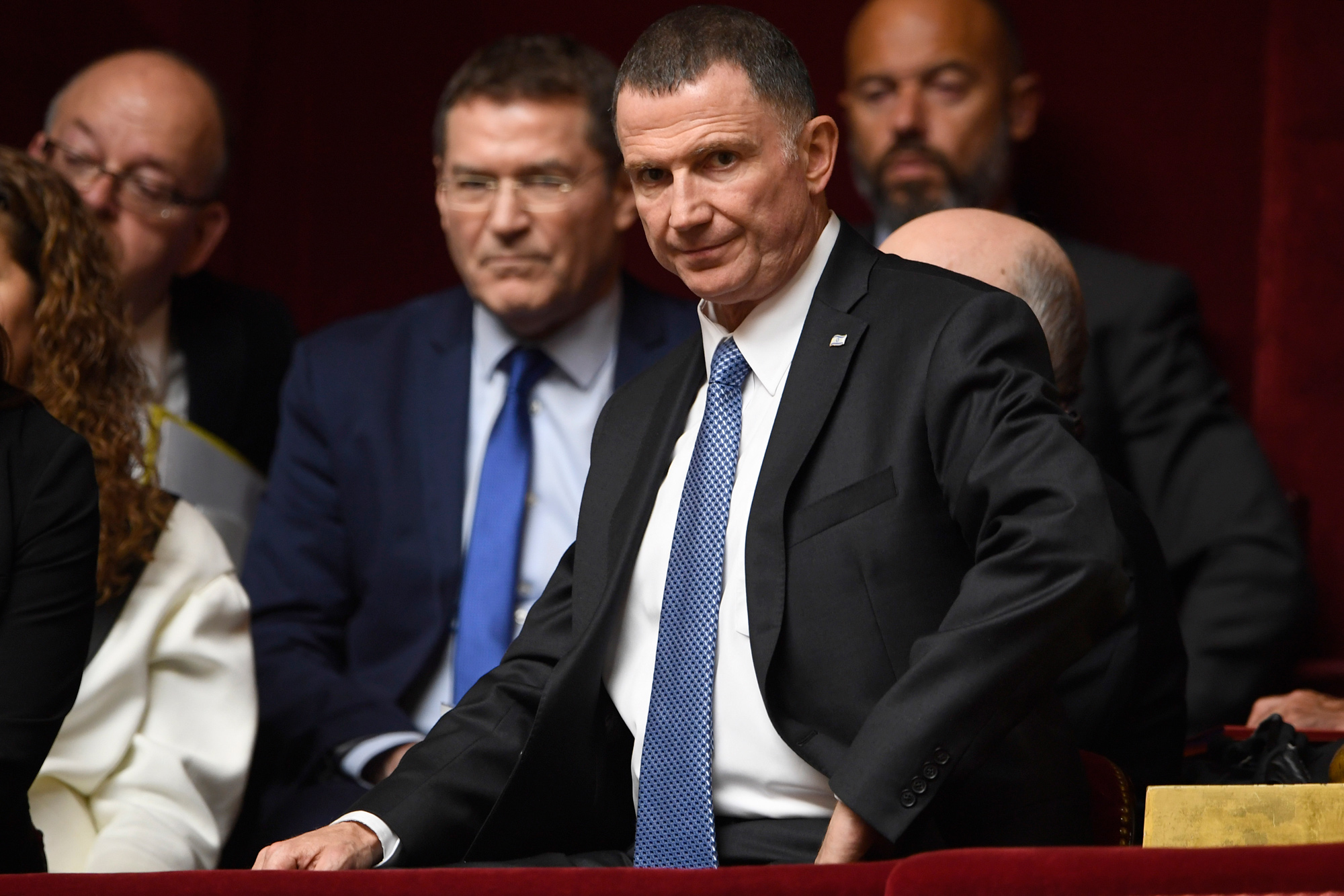 Israel's Health Minister Yuli Edelstein is seen at the French National Assembly in Paris on May 16, 2018.