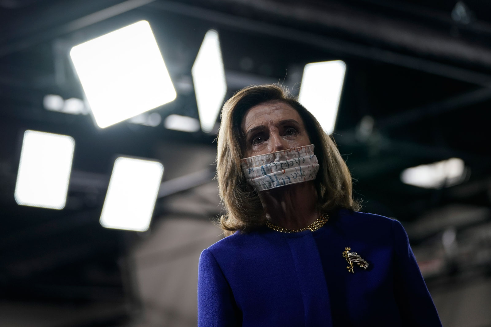 Speaker of the House Nancy Pelosi at a September 23 news conference where House Democrats introduced the Protecting Our Democracy Act.