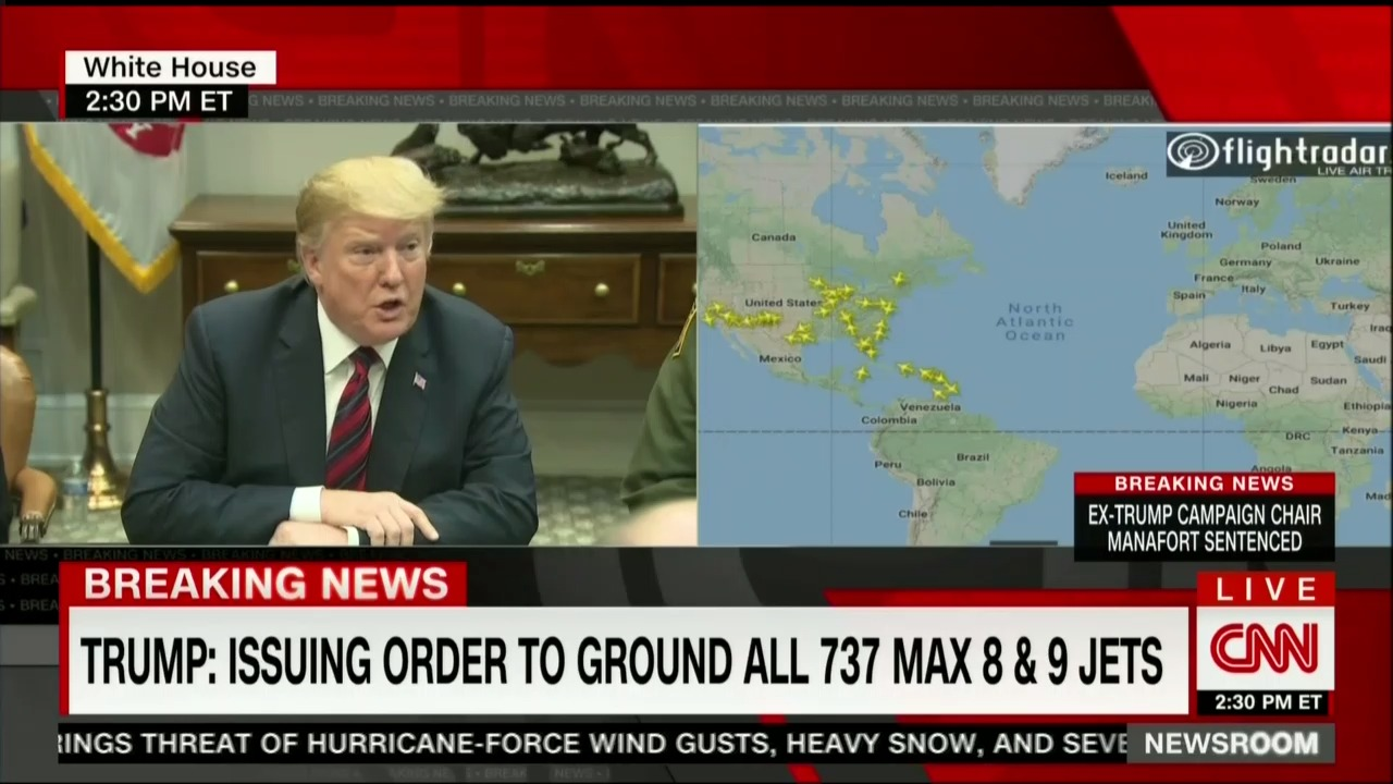 News 8 Now >> Now Trump Announces Us Will Order Boeing 737 Max 8s And 9s Grounded