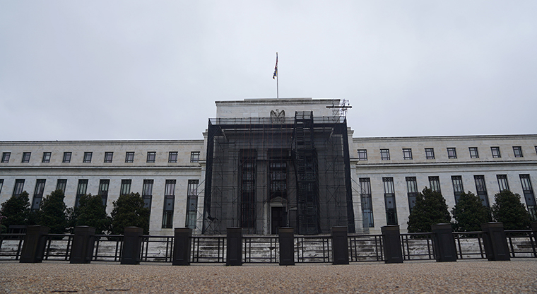 The U.S. Federal Reserve building in Washington, on March 23.