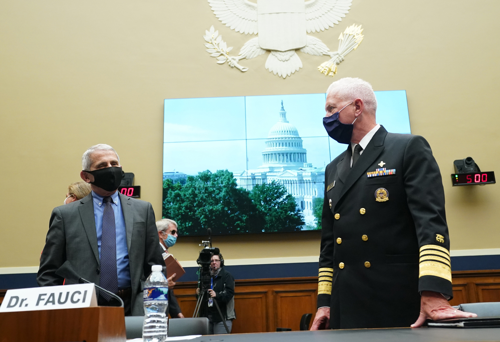 Dr. Anthony Fauci and Adm. Brett P. Giroir.