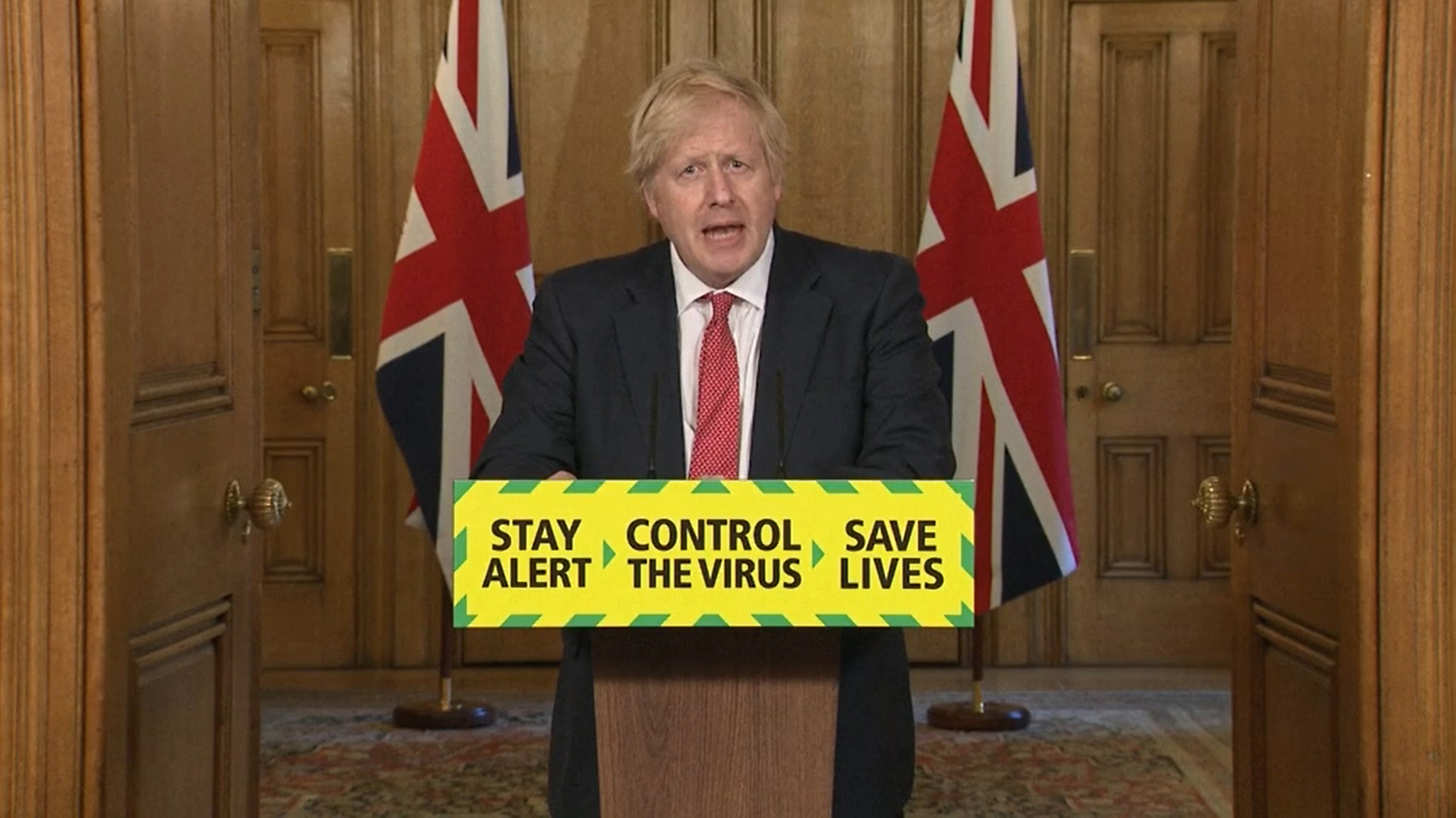 Prime Minister Boris Johnson during a media briefing on coronavirus in Downing Street, London, on Monday, May 11.