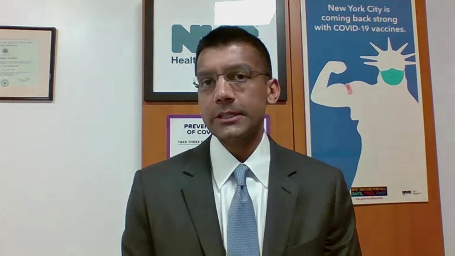 New York City Health Commissioner David Chokshi speaks with CNN on Monday, January 25.
