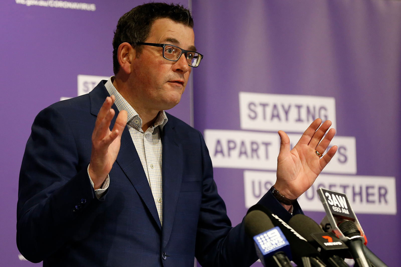 Victoria Premier Daniel Andrews speaks to the media at the daily briefing in Melbourne on August 3.