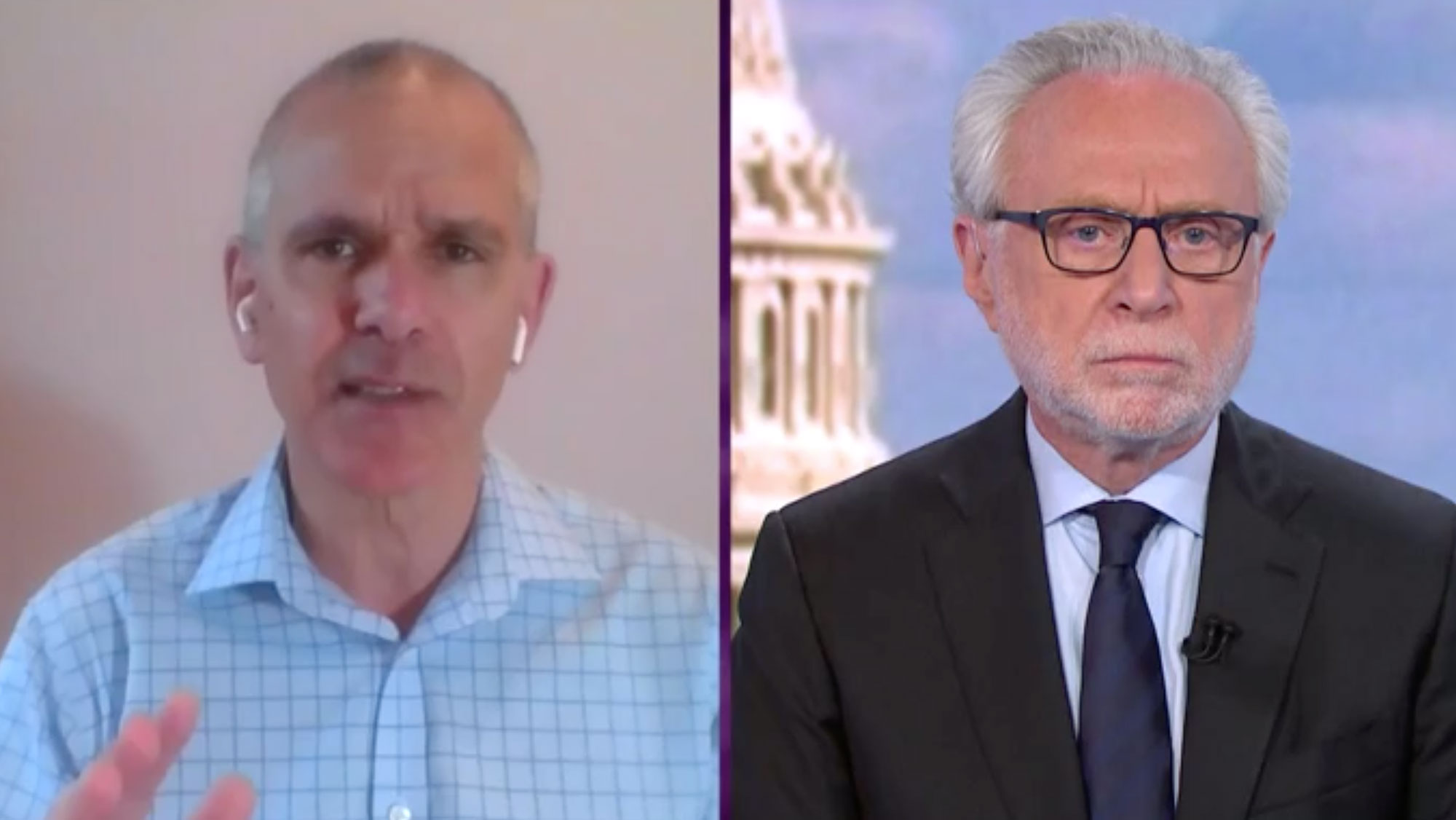 Dr. Christopher Murray and CNN's Wolf Blitzer.