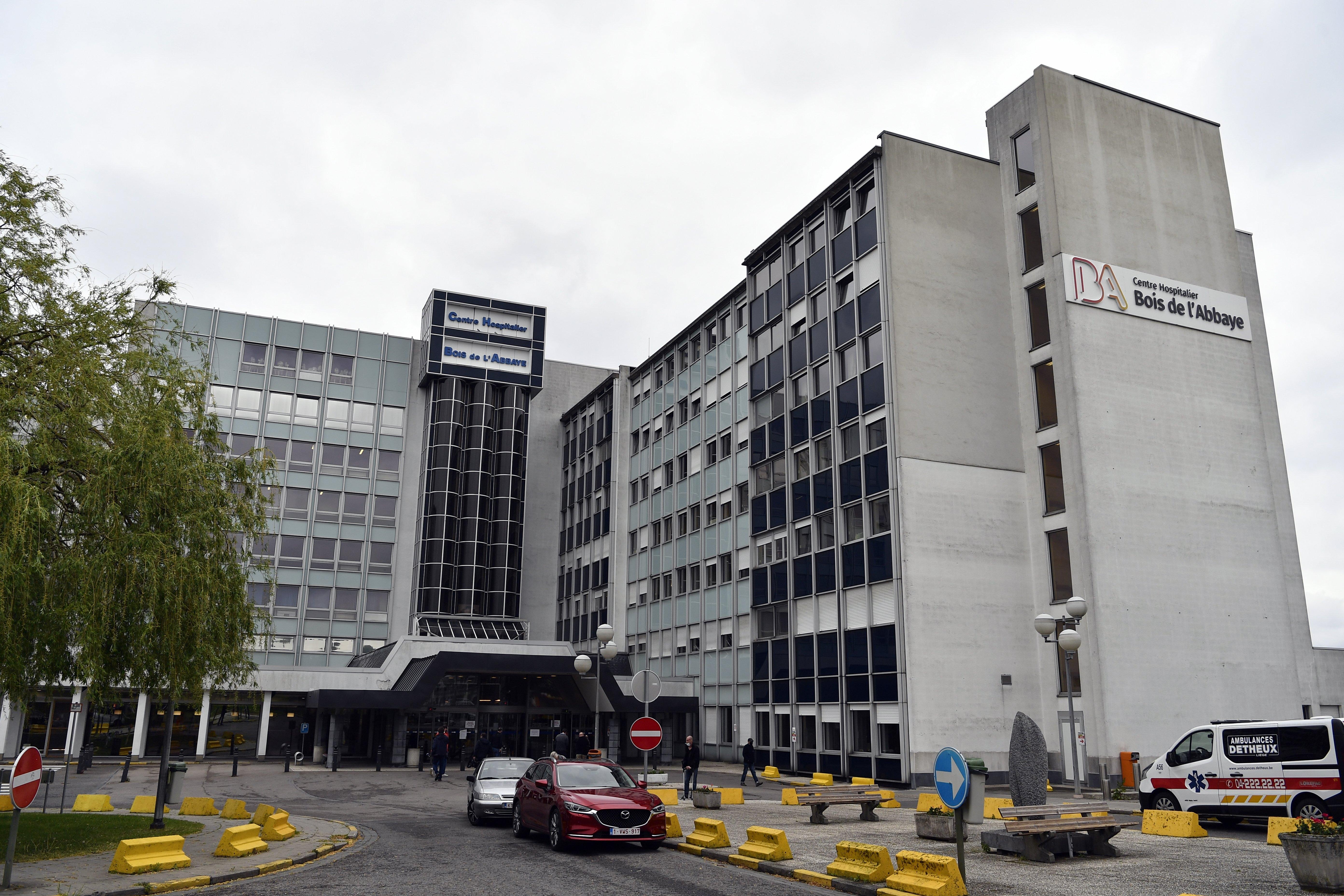 The Centre Hospitalier du Bois de l'Abbaye, in Seraing, Belgium, pictured in April 2020.