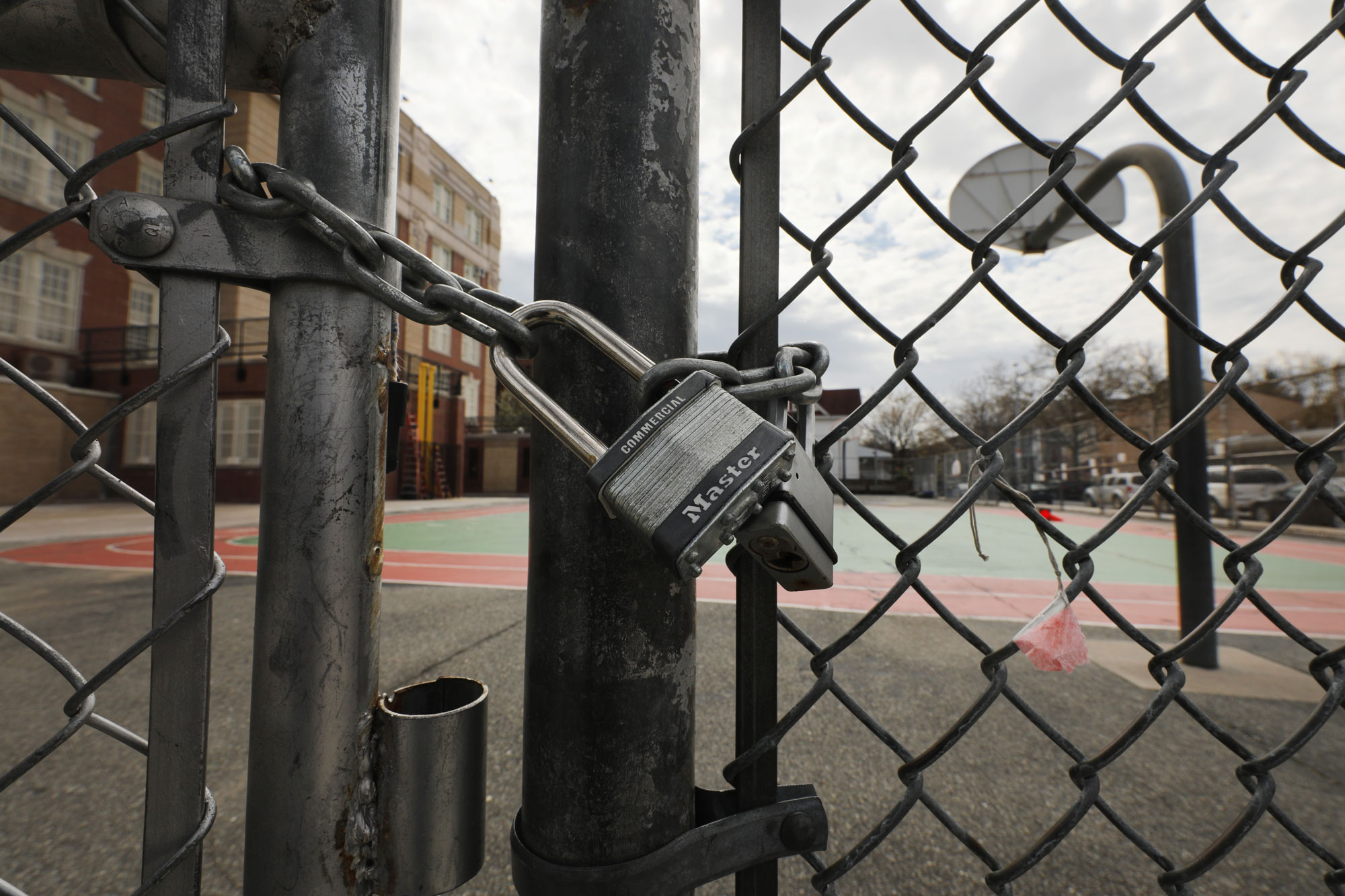 A public school stands closed on April 14, in Brooklyn, New York City.