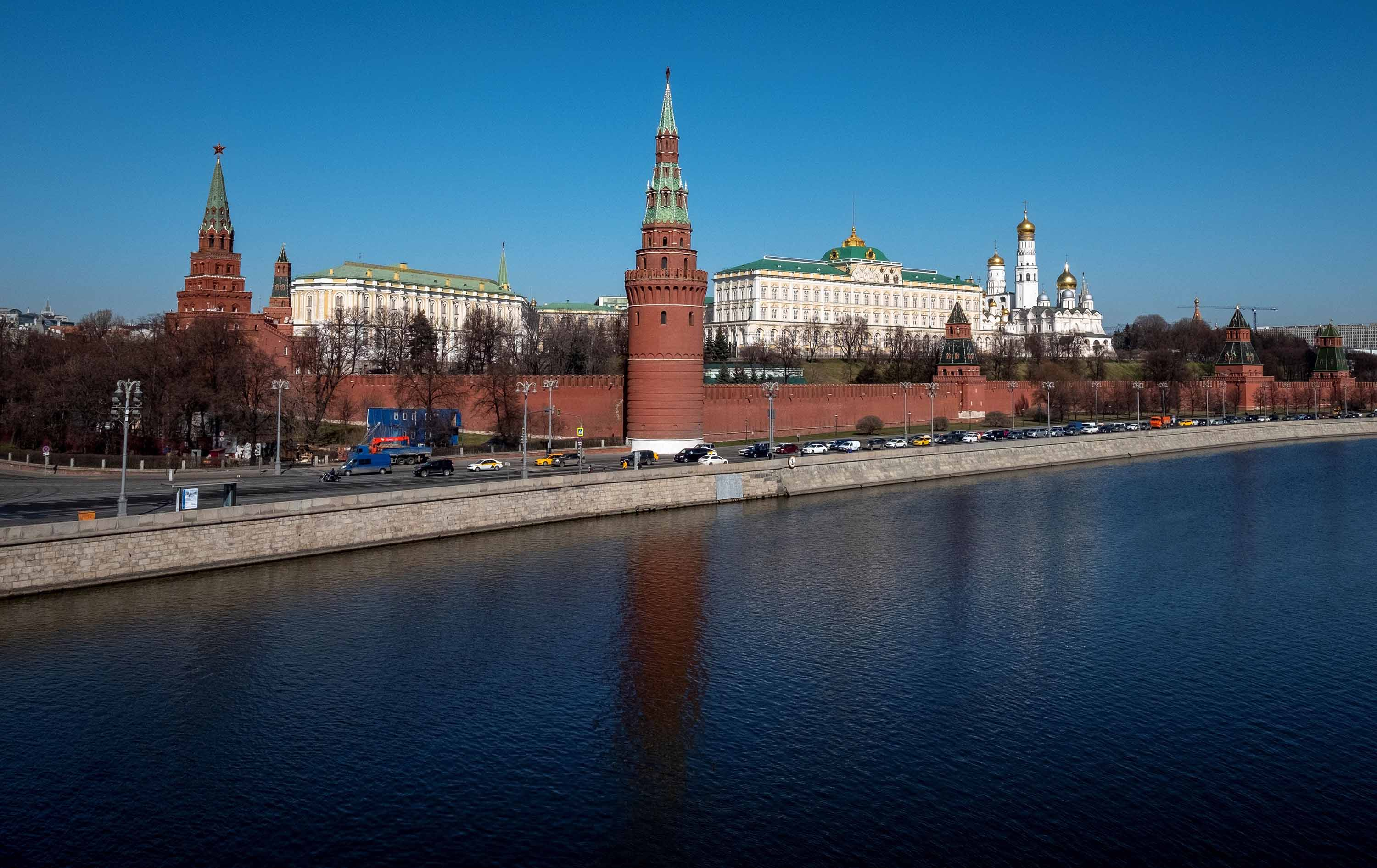 A view of the Kremlin in Moscow on March 26.