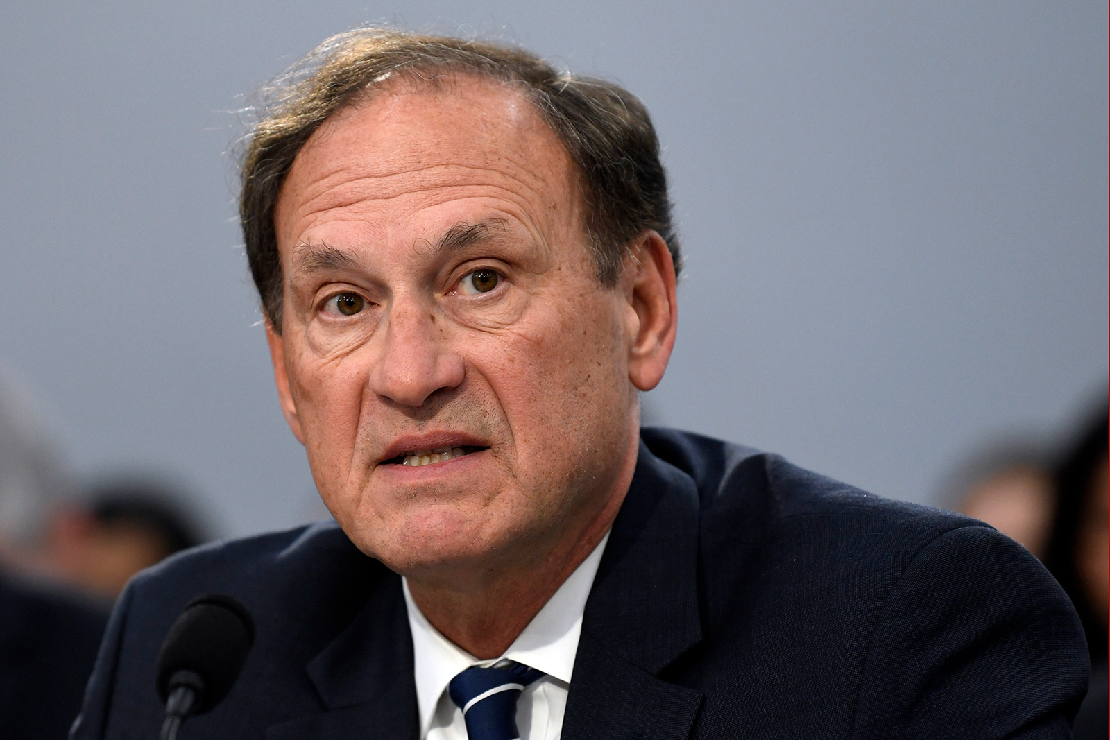 In this file photo, Supreme Court Justice Samuel Alito testifies before the House Appropriations Committee on Capitol Hill in Washington, on March 7, 2019.