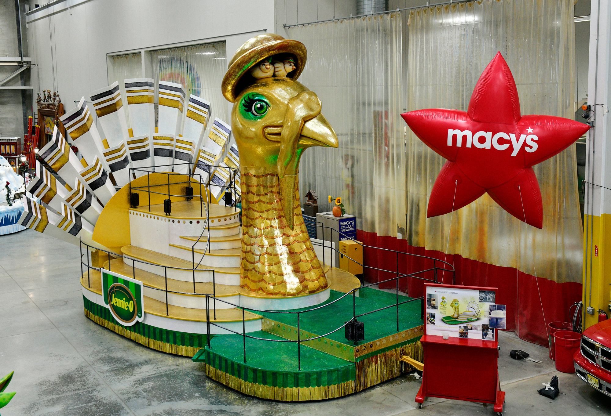 A view of the Jennie-O float as Macy's unveils the new fleet of floats joining the 94th annual Macy's Thanksgiving Day Parade® on November 18 in New York City.