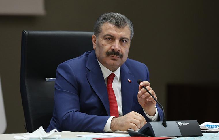 Turkish Health Minister Fahrettin Koca speaks during a press conference held after a meeting of Coronavirus (COVID-19) Scientific Advisory Board in Ankara, Turkey on September 02