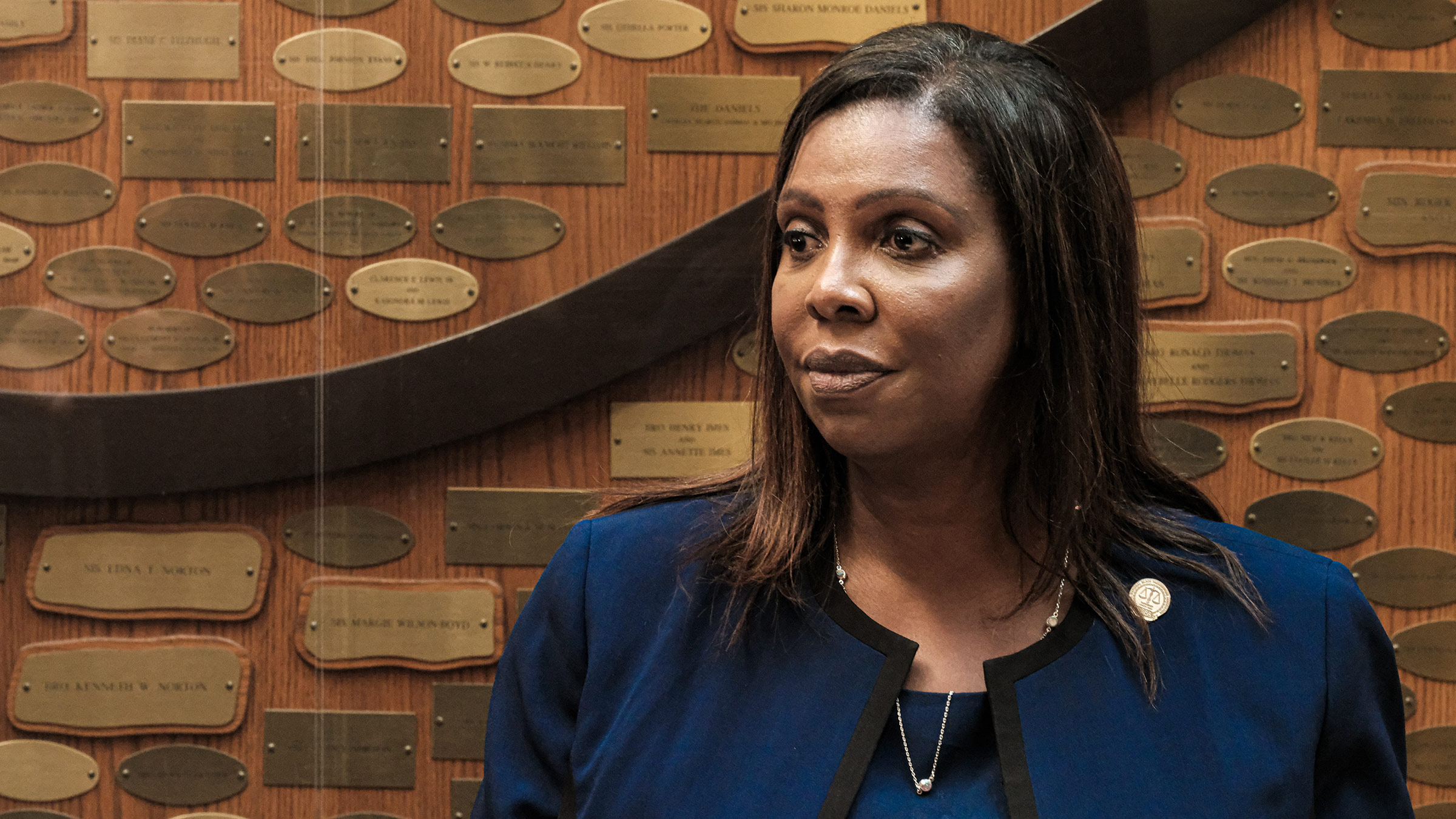 New York Attorney General Letitia James speaks at a news conference on September 20, 2020, in Rochester, New York.