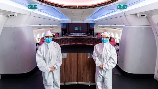 Qatar Airways has introduced PPE suits for its crew.