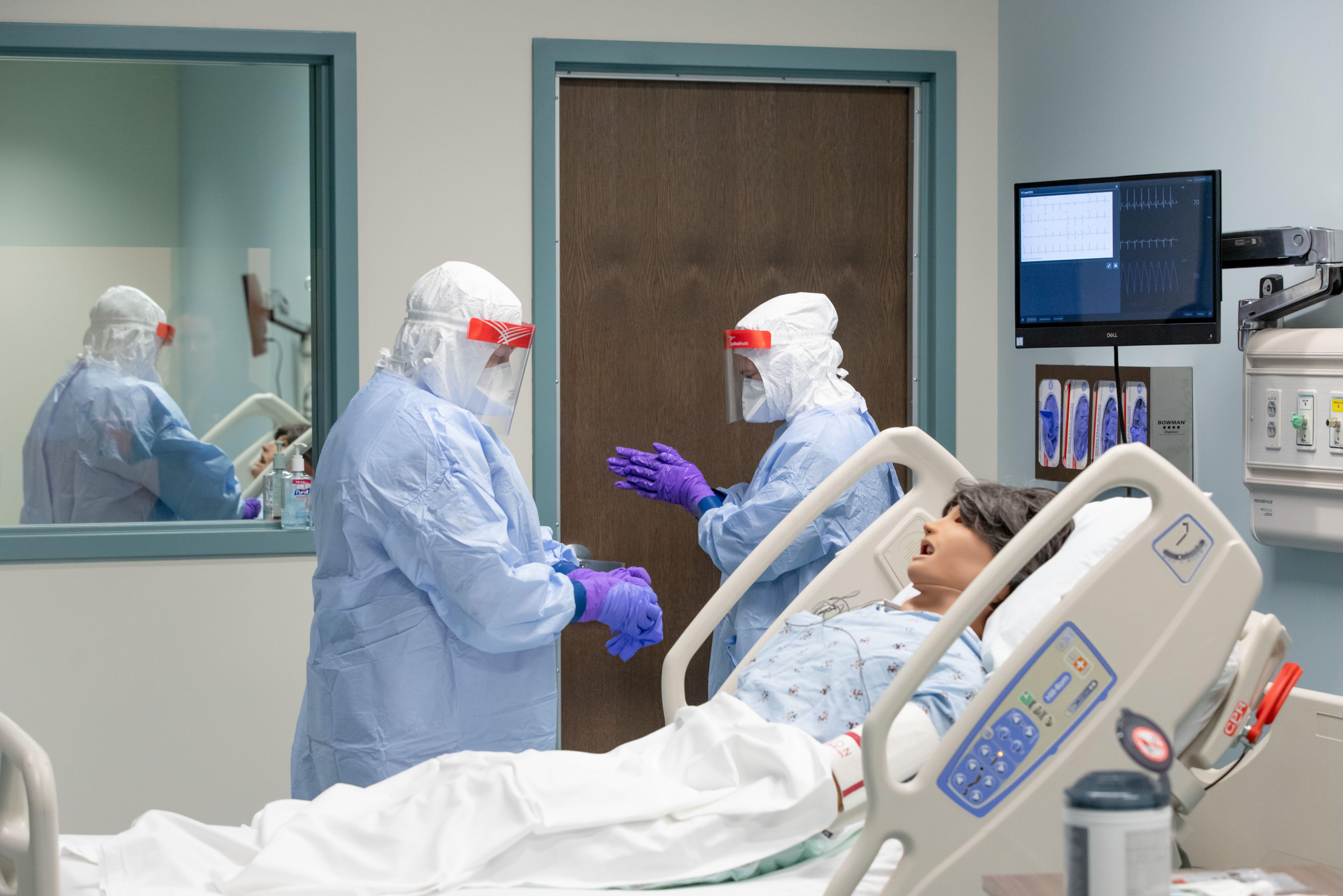 The National Quarantine Unitin Nebraska is seen during a training in 2019.