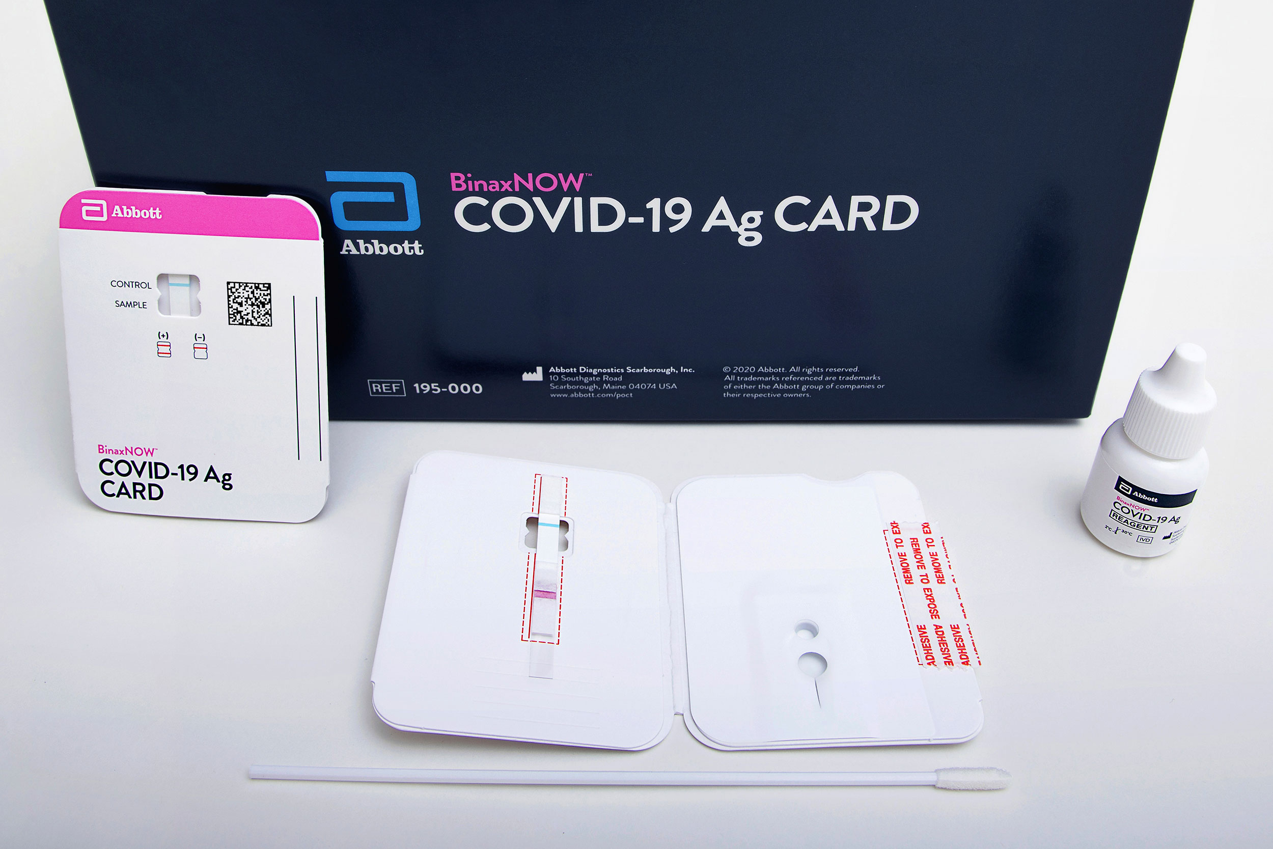 Abbott Laboratories' BinaxNOW rapid Covid-19 test.