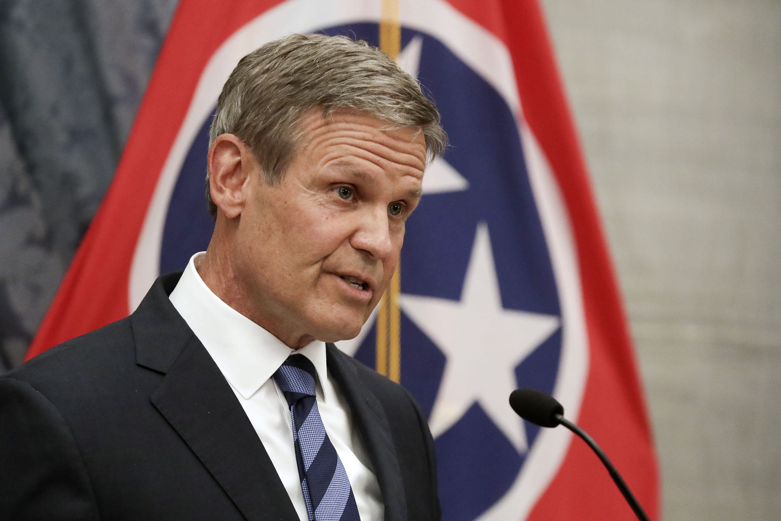 Gov. Bill Lee at a press conference on July 1 in Nashville, Tennessee.