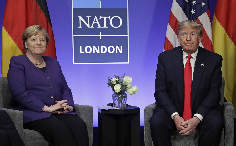 President Trump meets German Chancellor Angela Merkel on Wednesday. Photo: Evan Vucci/AP