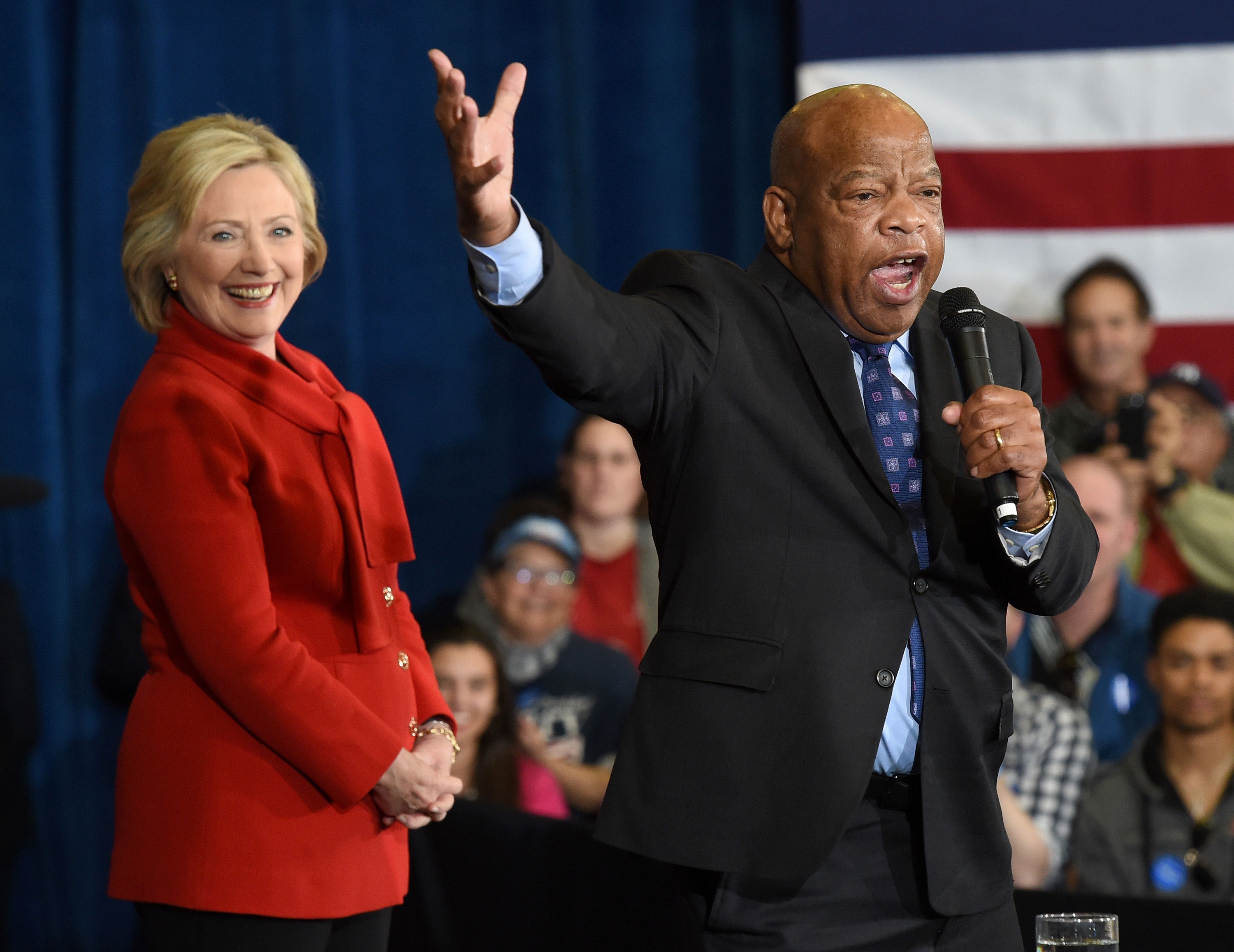 Rep. John Lewis campaigns for Hillary Clinton in Las Vegas in 2016.