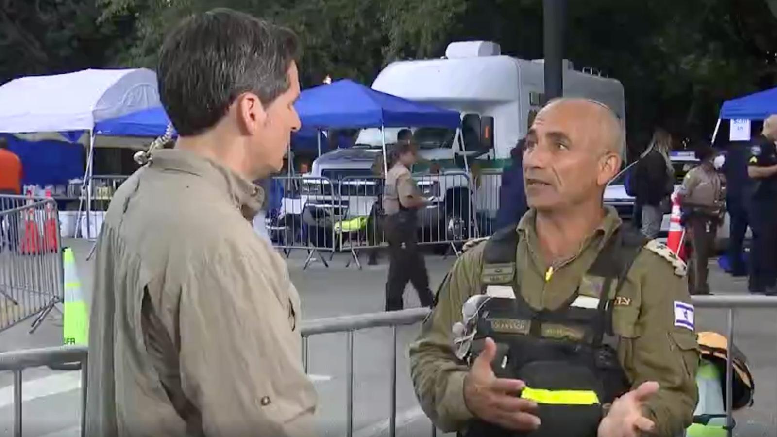 Colonel Golan Vach, Commander of the Israeli National Rescue Unit.