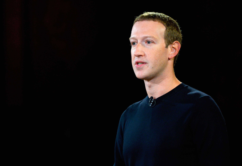 Mark Zuckerberg speaks at Georgetown University in Washington, DC on October 17, 2019.