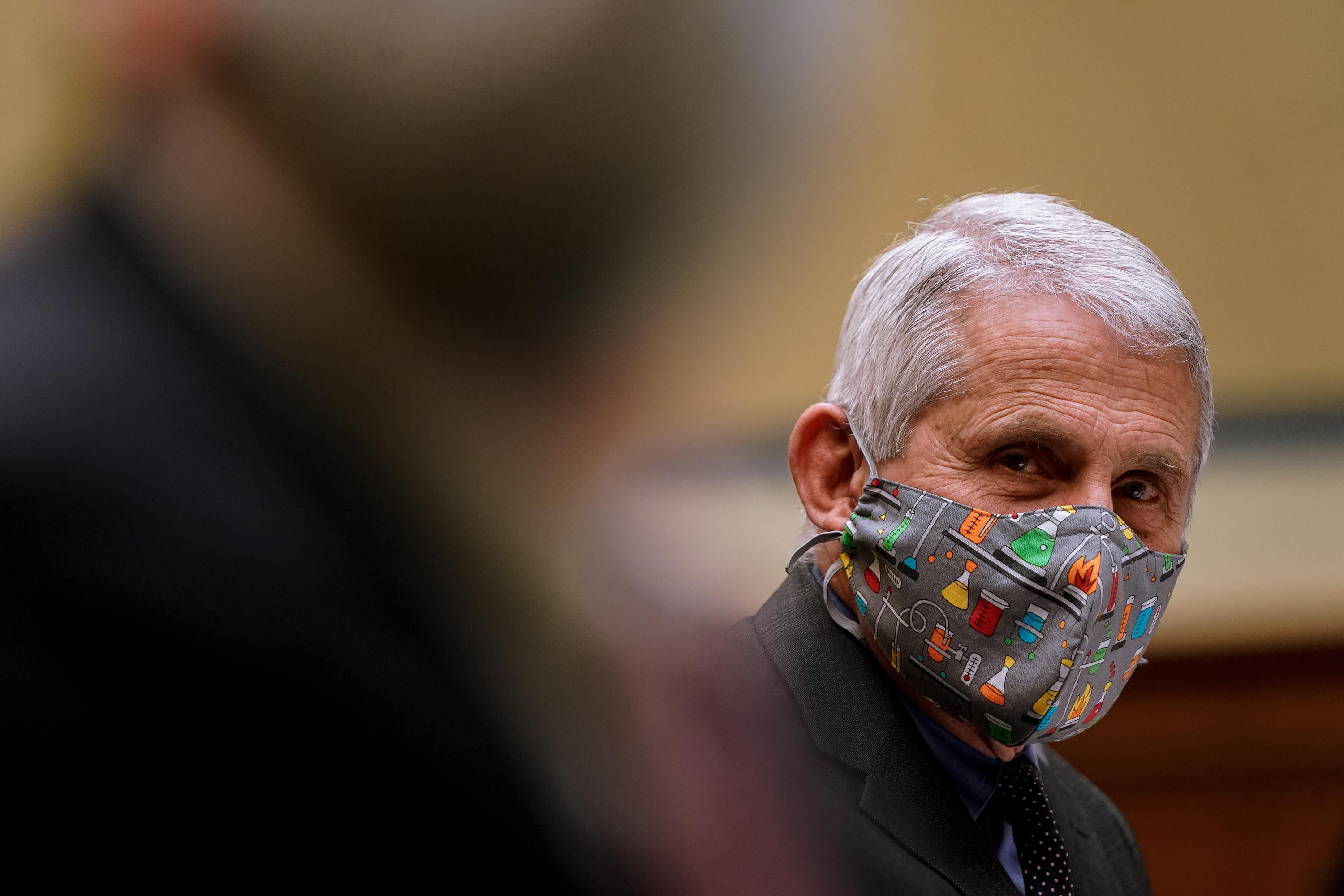 Dr. Anthony Fauci, Director of NIAID and Chief Medical Advisor to the President, is pictured at a hearing on Capitol Hill in Washington, DC, on April 15.