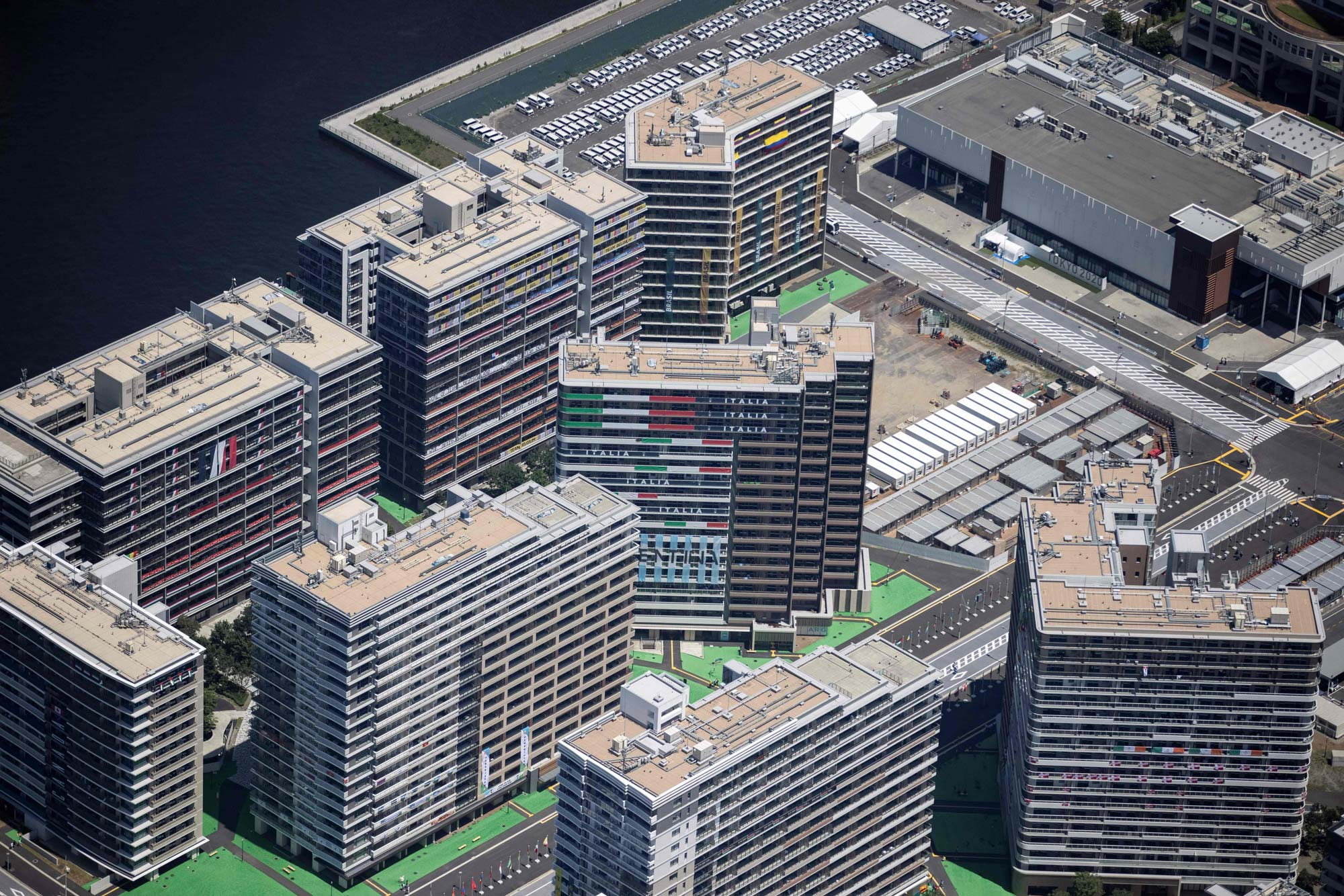 The Olympic Village is seen on July 19.