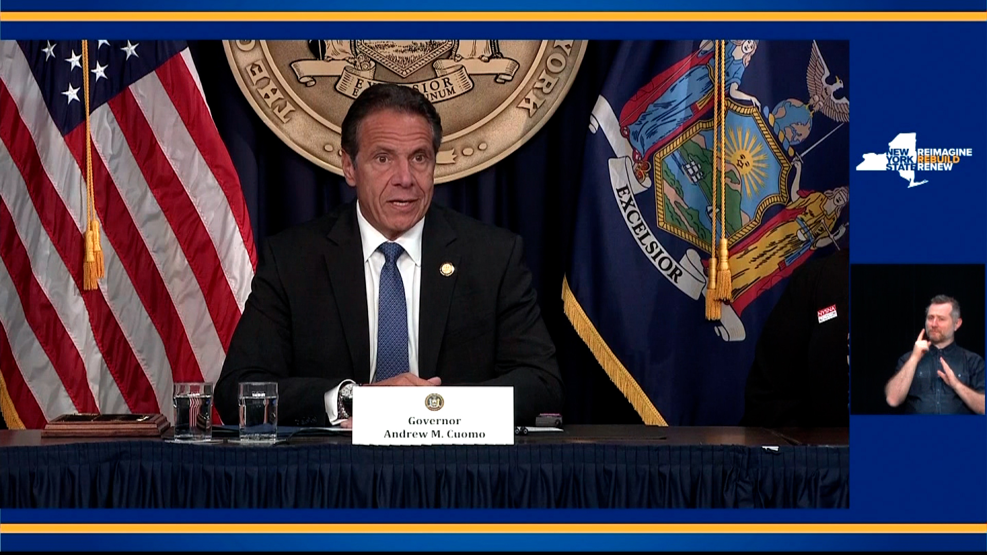 New York Gov. Andrew Cuomo speaks during a press conference on June 23.