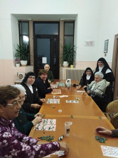 The nuns decided to stay and look after their elderly charges in isolation.